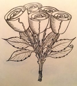 Roses easy Beginner Drawing