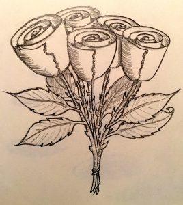Roses easy Beginner Drawing