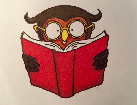 Reading Owl Easy Beginner Drawings