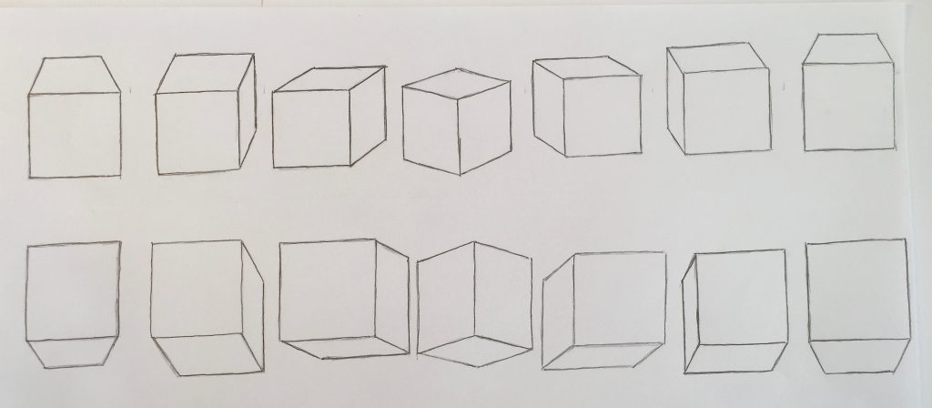 Daily Drawing Exercises - Boxes