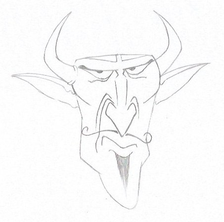 How to Draw the Devil - Cartoon Style - Step Five