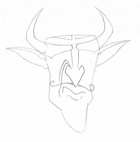 How to Draw the Devil - Cartoon Style - Step Four