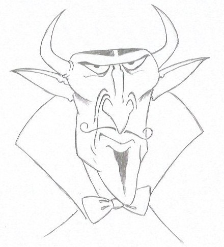 How to Draw the Devil - Cartoon Style - Step Six