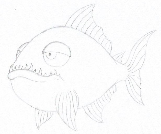 How to Draw a Piranha - Step Six