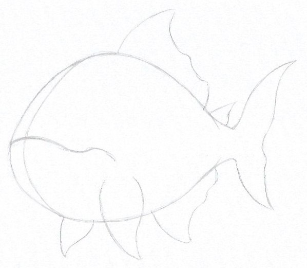 How to Draw a Piranha - Step Three