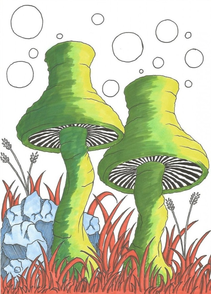 Space Fungus - Partly coloured
