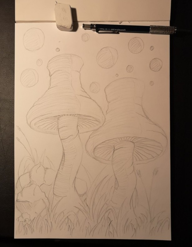 Space Fungus - Sketch